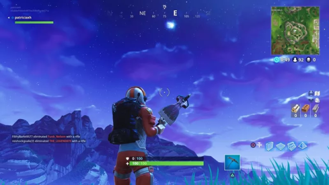 When is meteor hitting tilted towers Meteor in sky