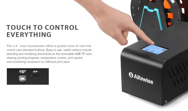 Alfawise U 20 Large Scale DIY 3D Printer Control