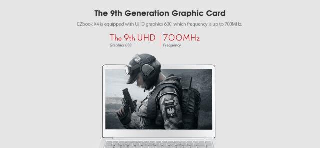 JUMPER EZbook X4 Notebook GPU
