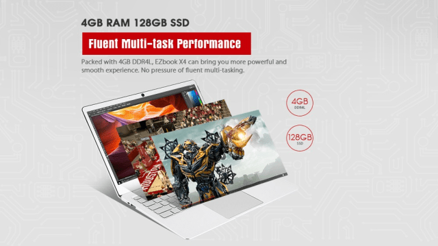 JUMPER EZbook X4 Notebook RAM