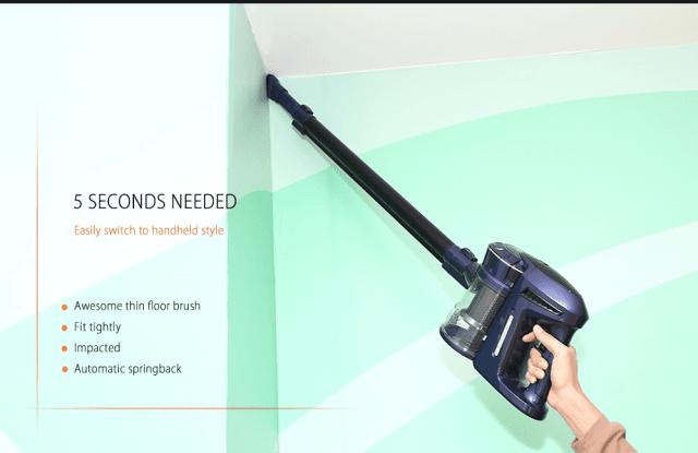 WP536 Handheld Vacuum Cleaner Speed