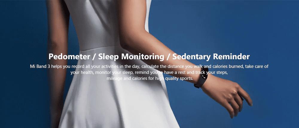 Xiaomi Mi Band 3 Pedometer Designed