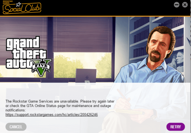 The Rockstar Game Services are Unavailable Right Now