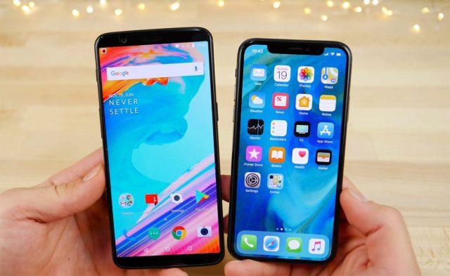 iPhone X vs One Plus 6