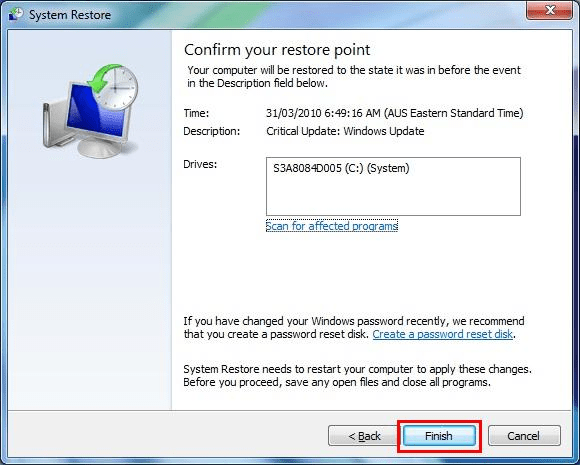 How to Fix Error 1602 Step 4