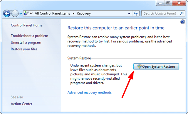 How to Fix Error 1602 System Restore