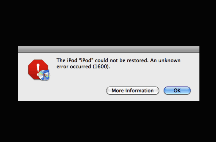 SOLVED] How to Fix iTunes Error 1600 iPhone Code Problem