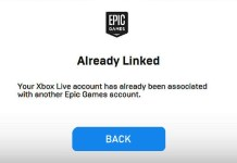 Your Xbox Live Account Has Already Been Associated with Another Epic Games Account