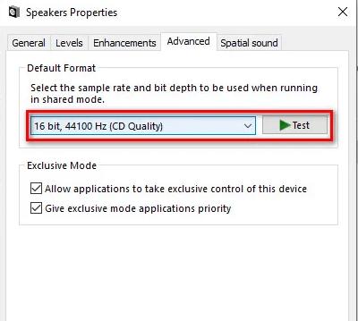 sound Audio Renderer Error