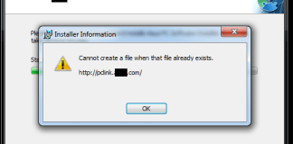 Cannot Create a File When That File Already Exists