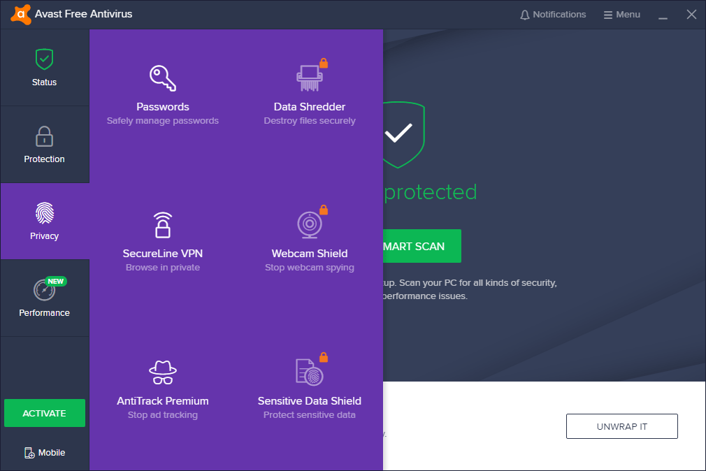 Avast Free Antivirus Must Have Software for Windows 10