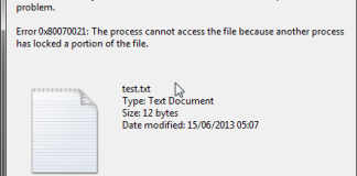 The Process Cannot Access the File Because Another Process has Locked a Portion of the File