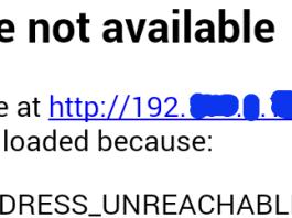 ERR_ADDRESS_UNREACHABLE