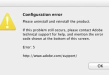 Configuration error