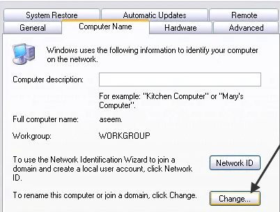 renaming my computer A Duplicate Name Exists on the Network