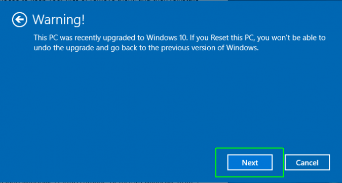 windows reset This Operation Requires an Interactive Window Station