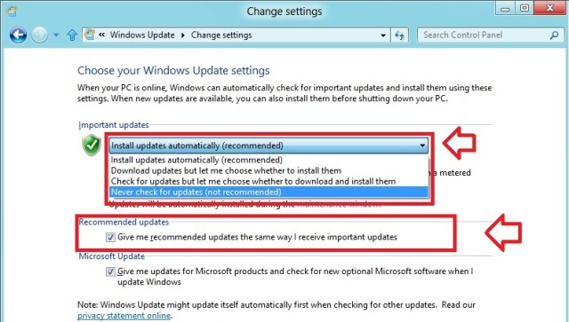 Install updates automatically