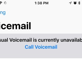 Visual Voicemail Is Currently Unavailable