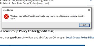 Windows Cannot Find Gpedit.msc