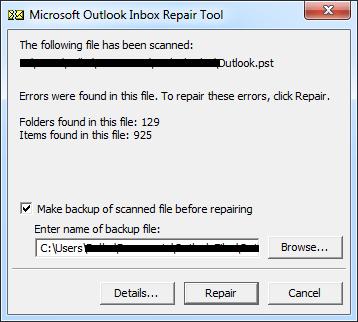 repair Unknown Error Occurred