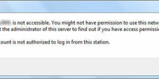 The Account Is Not Authorized To Login From This Station Error
