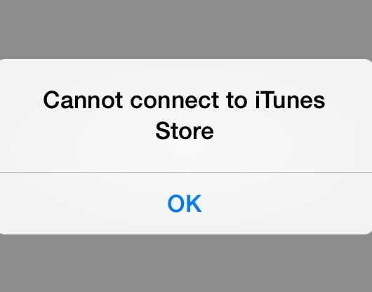 Cannot Connect to the iTunes Store