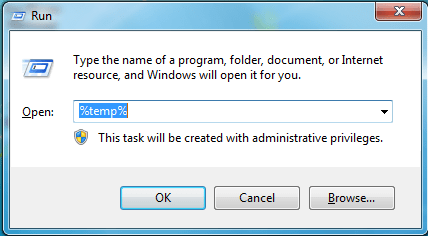 temp files The System Cannot Find The Path Specified