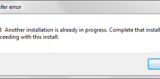 Another Installation Is Already In Progress Error