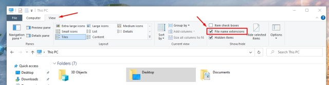 Fret not, it's not rocket science to see file extensions in Windows. You just have to enable one option and you will be done