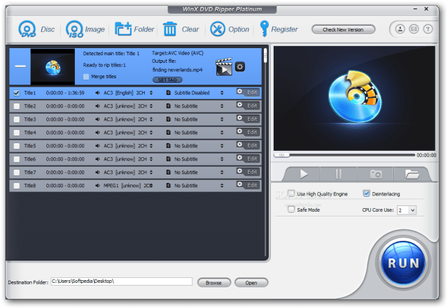 Features of WinX DVD Ripper