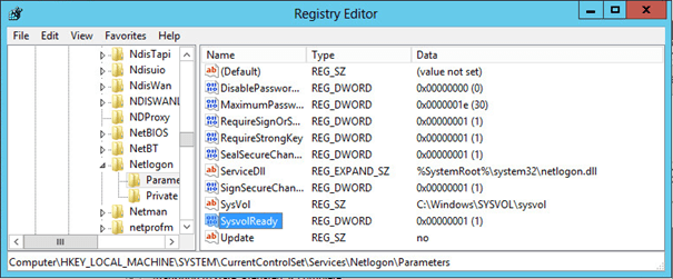 regedit The Specified Domain either does not Exist or Could not be Contacted