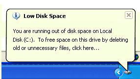 The disk is full