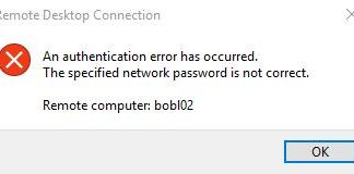 The Specified Network Password Is Not Correct