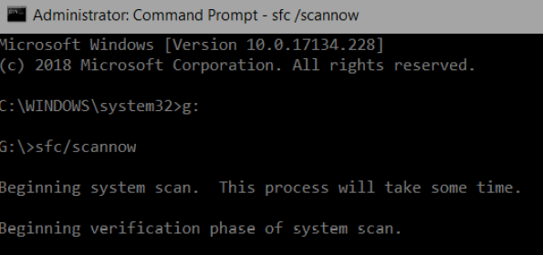 sfc /scannow