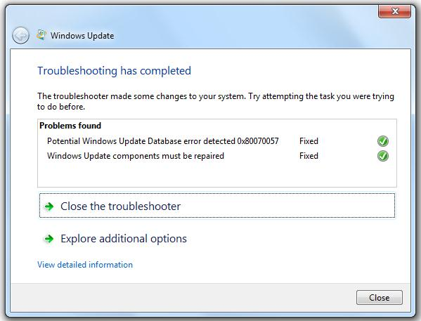Update TroubleShooter