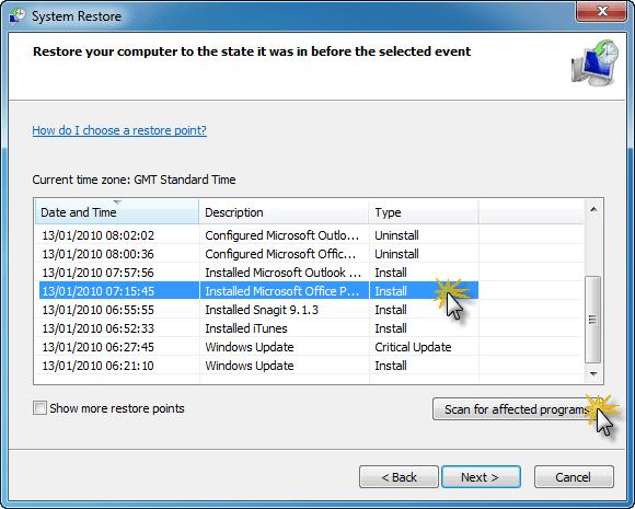 reinstall software