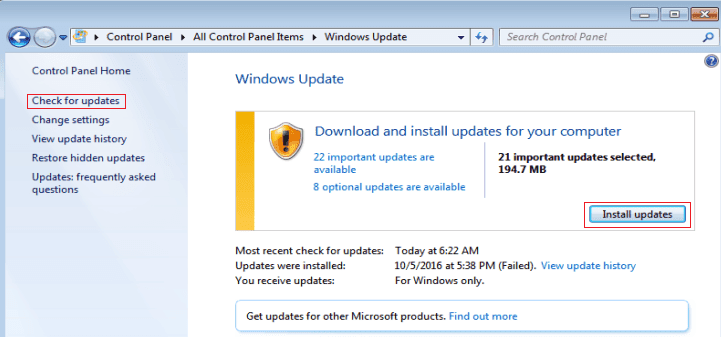 windows update This Operation Requires an Interactive Window Station