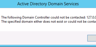 Specified Domain Either Does Not Exist Or Could Not Be Contacted