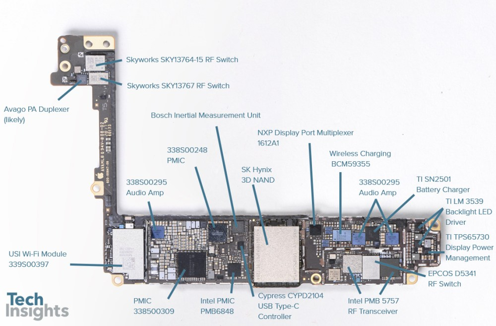 medium resolution of apple iphone 8 plus board