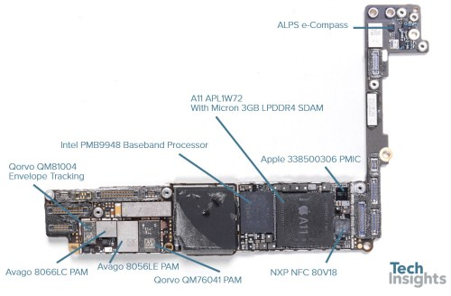 small resolution of apple iphone 8 plus board