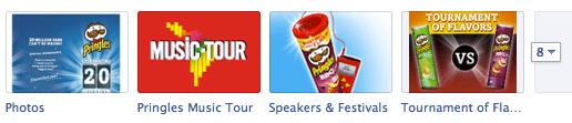Pringles Timeline Custom Tabs