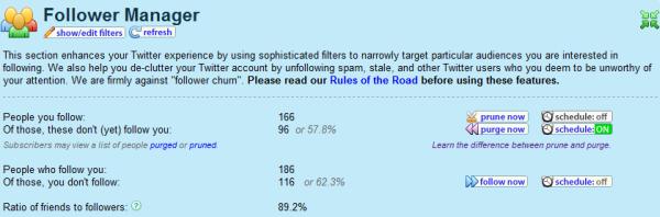 Tweet Spinner: Follower Manager Statistics