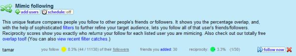 Tweet Spinner: Mimic Follow