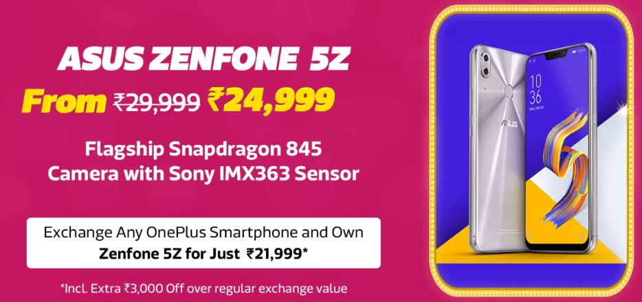 Flipkart Big Billion Sale Asus ZenFone 5Z Offer