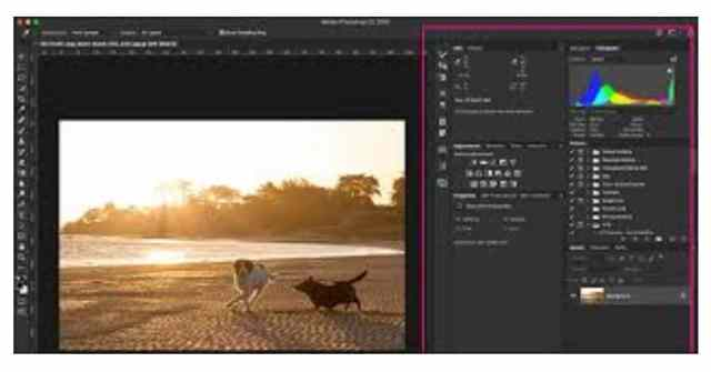 Right Side Panels - Adobe Photoshop