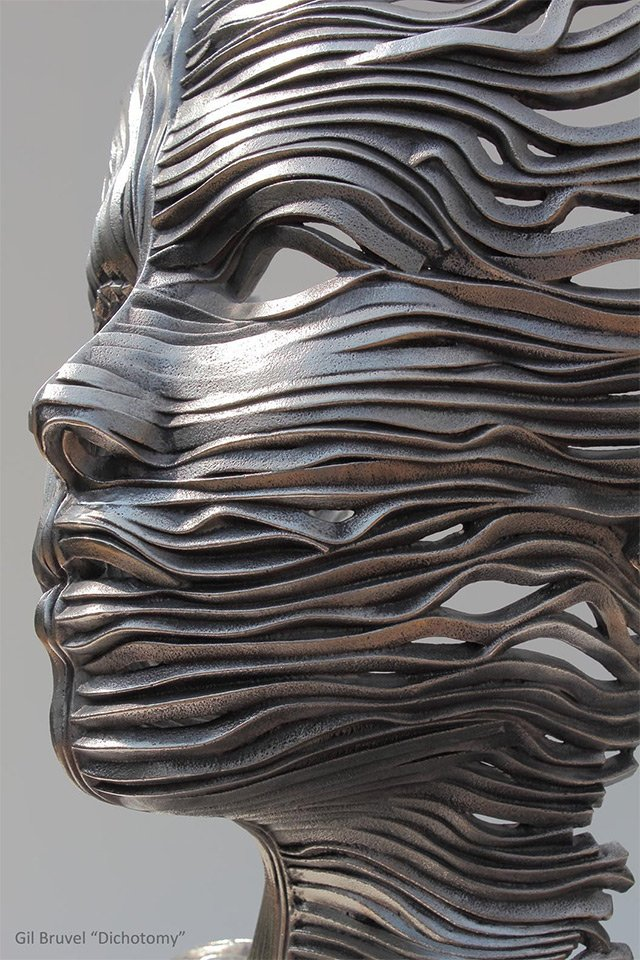 Human Figures made of untangling stainless Steel _8