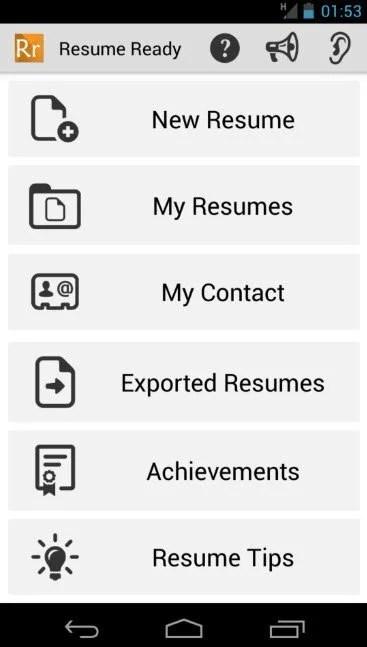 Resume ready