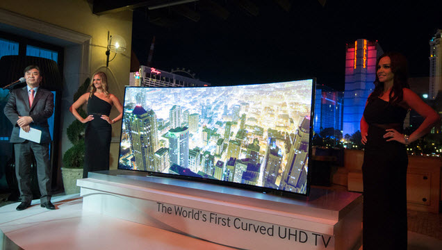 Samsung Takes The Curtains Off Its Curved 105 Inch Ultra HD TV