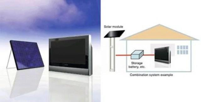 solar powered samsung TV