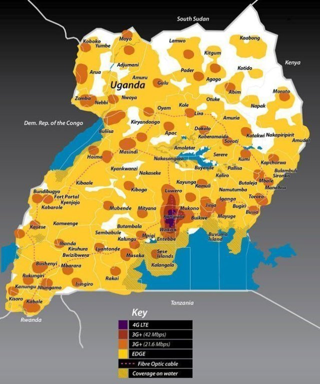 MTN Coverage map techjaja